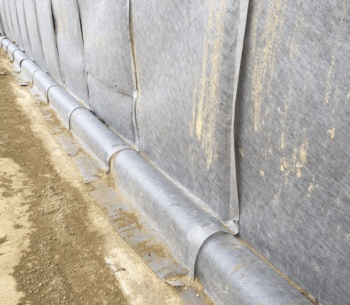 EnkaDrain Structure drainage system installed at site in France Copyrights Low & Bonar_Enka Solutions