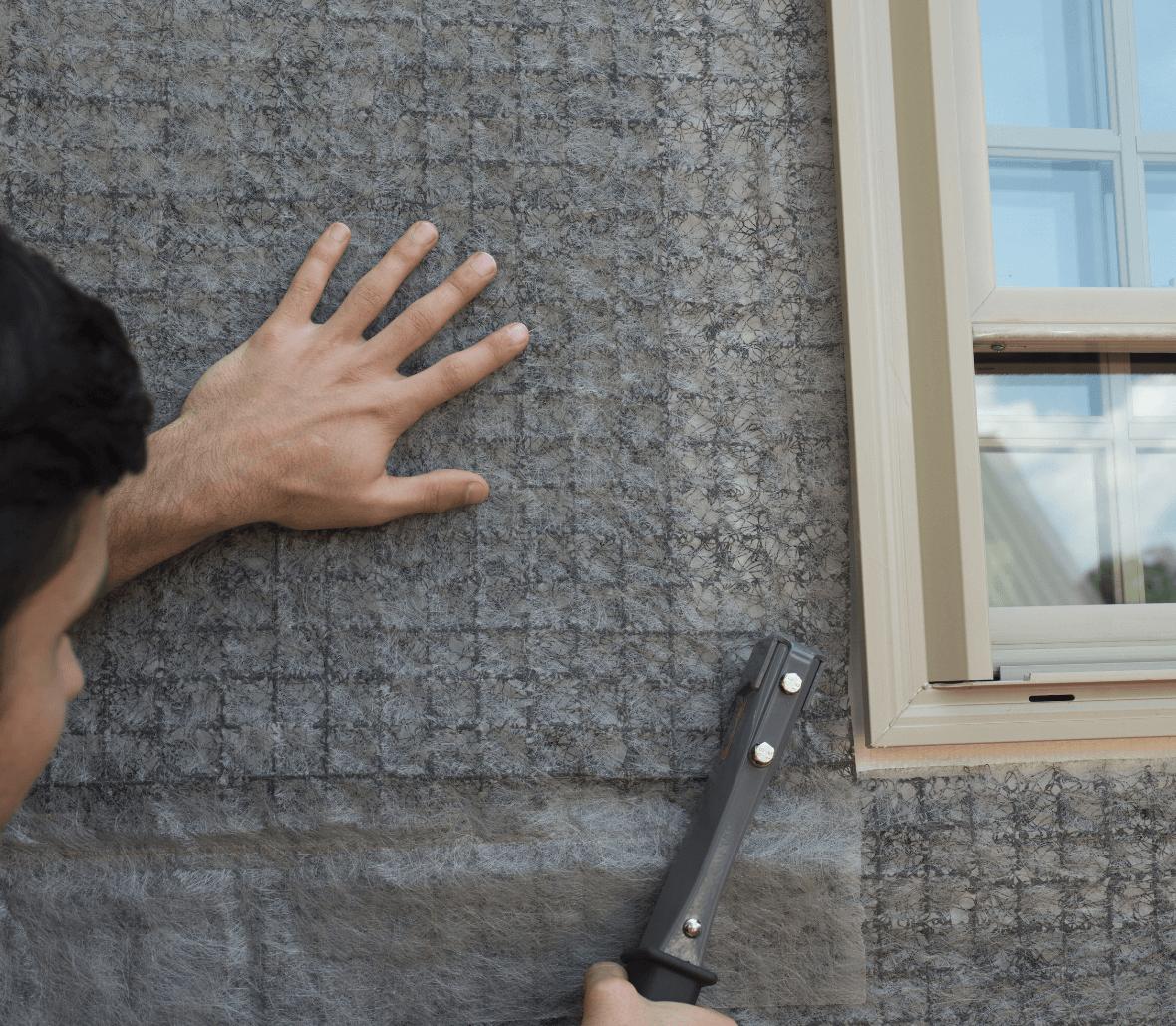 EnkaWallDrain rainscreen facade outer wall drain and ventilation layer for facades close up Credits Enka Solutions_©Low&Bonar