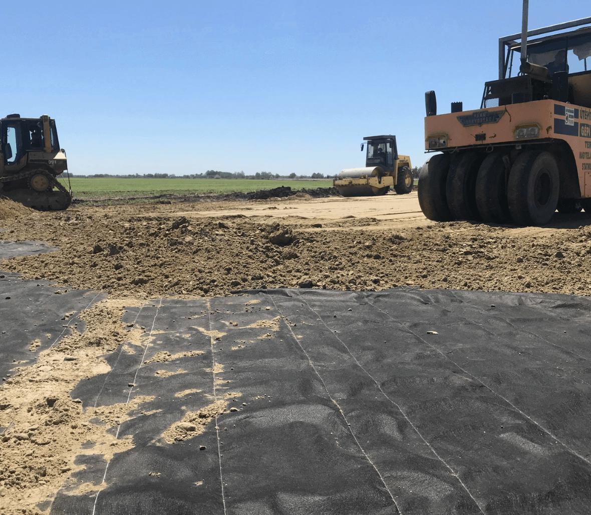 Excavation after installing Enkabreak capillary break layer Copyrights Low & Bonar_Enka Solutions