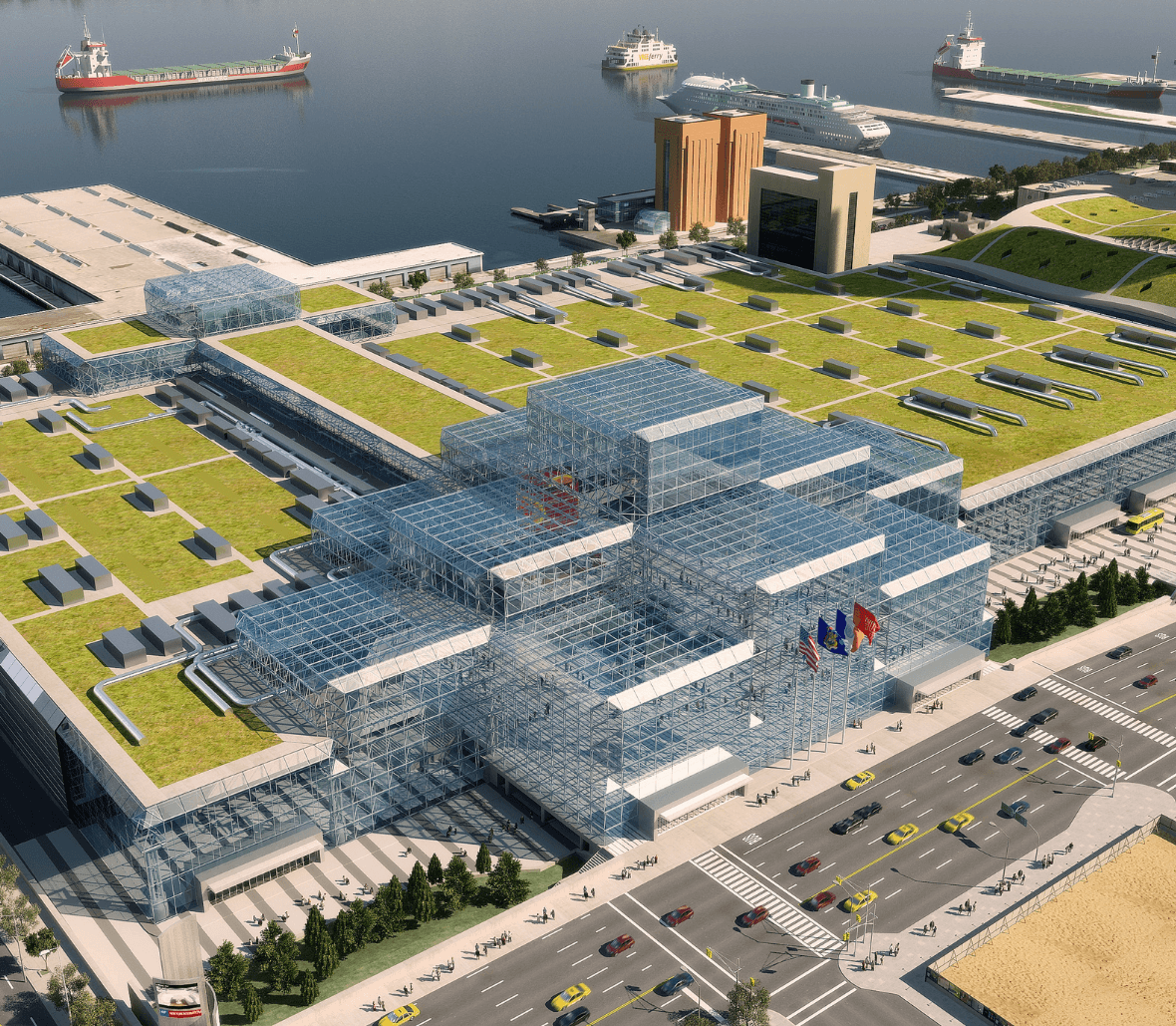 Javits_Green Roof_Plan Enka Solutions green roof components project