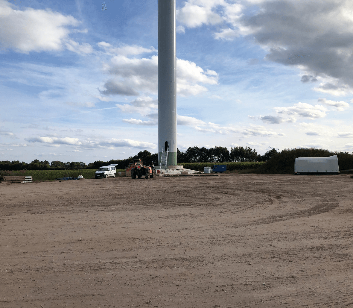 Windmill park-soil stabilizaion by EnkaGrid geogrid_copyrights Low & Bonar_Enka Solutions (2)